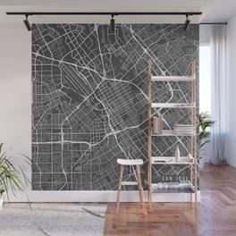 San Jose Map, USA - Gray Wall Mural