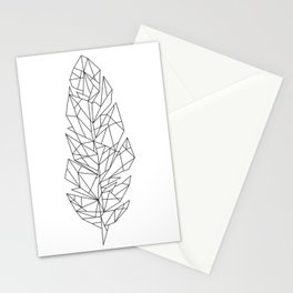 Geometric Feather Stationery Cards