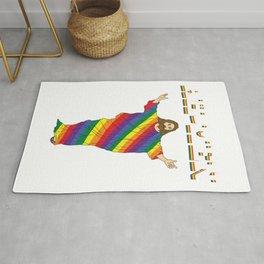 Gay Lesbian LGBT Bisexual Homosexual pansexual trans queer gender rainbow Rug