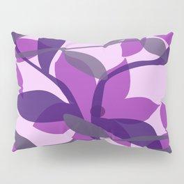 Violet pink Flower Blossom leaves Pillow Sham