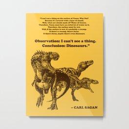 Conclusion: Dinosaurs (Color) Metal Print