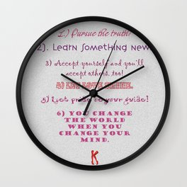 6 Step Program from Kinky Boots Wall Clock