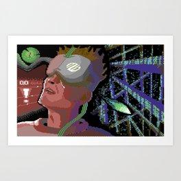 Neuromancer C64 Pixelart Art Print