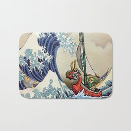 Great Wave -  Free Shipping - darkgamer - gamer clothing and accessories Bath Mat