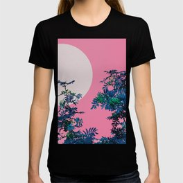 Pink sky and rowan tree T-shirt