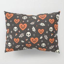 I Heart Halloween Pattern (Black) Pillow Sham