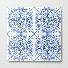 Amalfi Tile Metal Print