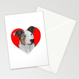 Pit Bull Heart Stationery Cards