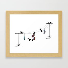Life on a Wire! Framed Art Print