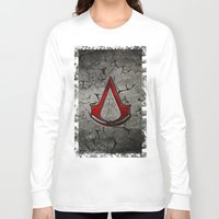 assassins creed Long Sleeve T-shirts featuring Creed Assassins Logo by Andrian Kembara
