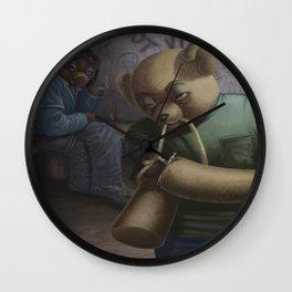 Drug Addict Teddy Wall Clock
