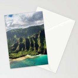 Na Pali Coast Aerial of Kauai Hawaii Stationery Cards