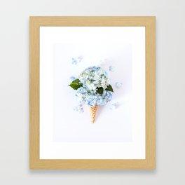 Double Scoop Framed Art Print