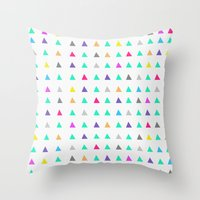 confetti Throw Pillows featuring Confetti by Leah Flores