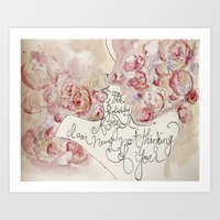 the roses of the lovers Art Print