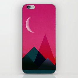 moon light geometric abstract landscape iPhone Skin