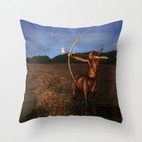 sagittarius Throw Pillows featuring Sagittarius by Viggart