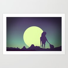 Honey-moon 2 Art Print