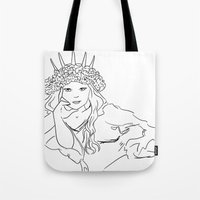 mucha Tote Bags featuring Mucha Style by Crousticro