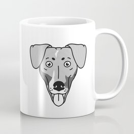 Dachshund Mix Dog Portrait -Custom Request, Black Palette Coffee Mug