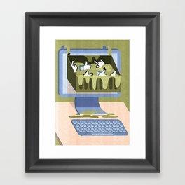 The Internet: A Wasteland Of Information Framed Art Print