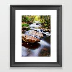 the River Still Framed Art Print