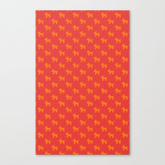 Dogs-Red Canvas Print