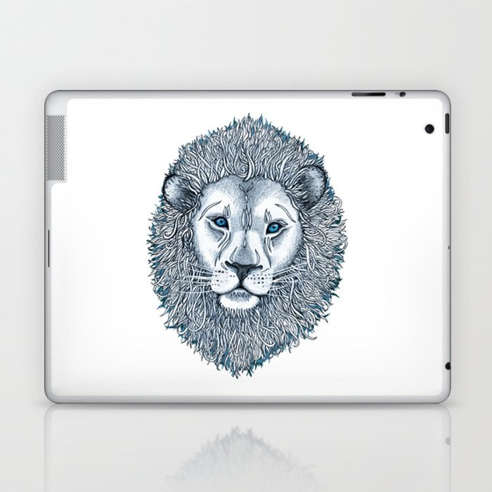 Blue Eyed Lion Laptop & iPad Skin