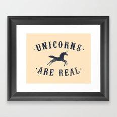 Unicorns Are Real II Framed Art Print