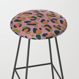 Pink Leopard Bar Stool