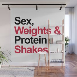 Protein Shakes Gym Quote Wall Mural