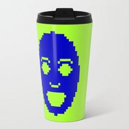 Pixel Face Travel Mug