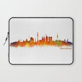 Barcelona City Skyline Hq _v2 Laptop Sleeve