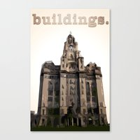 buildings Canvas Prints featuring Buildings by Wis Marvin