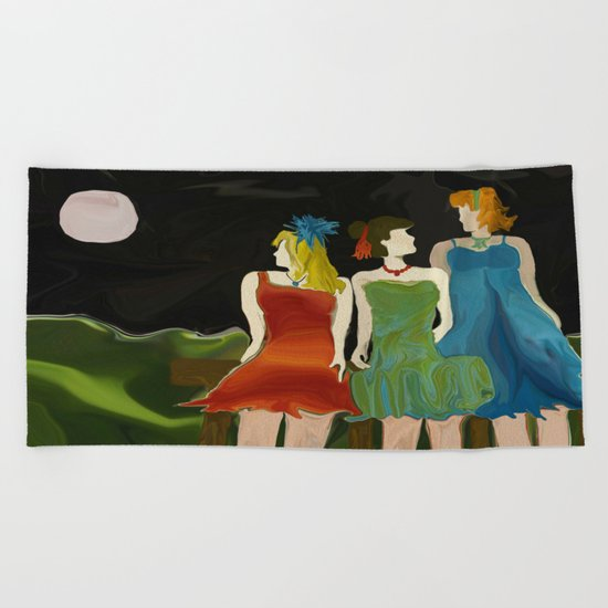 After Party Hour Beach Towel
