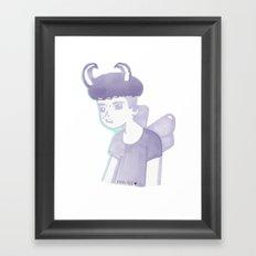 Pastel Punk Pixie Boy Framed Art Print