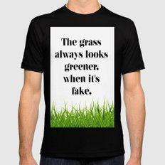 GRASS Black Mens Fitted Tee MEDIUM