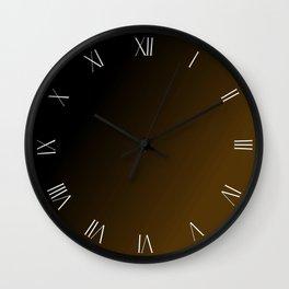 Black and gold roman numerals clock Wall Clock