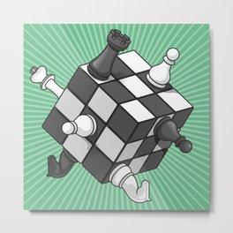 Rubik's chess Metal Print