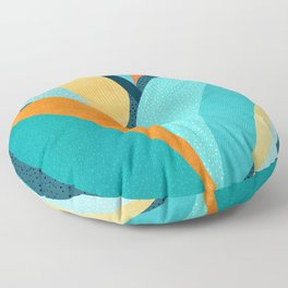 Abstract Tropical Foliage Floor Pillow