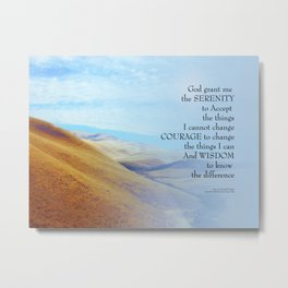 Serenity Prayer Golden Hills Metal Print
