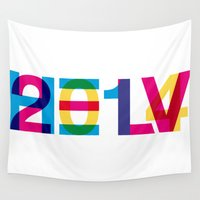 helvetica Wall Tapestries featuring helvetica 2014 by Type & Junk