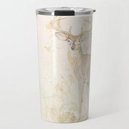 Deer and butterfly Travel Mug
