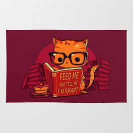 Feed Me And Tell Me I'm Smart Rug