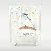 courage Shower Curtains featuring Courage by Tammy Kushnir