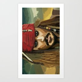 captian jack sparrow Art Print