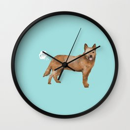 Australian Cattle Dog red heeler funny fart dog breed gifts Wall Clock