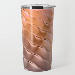 Copper satin ripple Travel Mug
