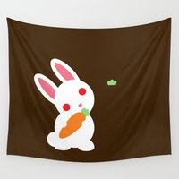 bunny Wall Tapestries featuring Bunny by facebook.com/AAPP0