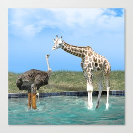 The Ostrich with Galoshes Canvas Print